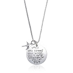 """Until You Spread Your Wings, You&#39ll Never Know How Far You Can Fly"" Charm Necklace - $13 with FREE Shipping"